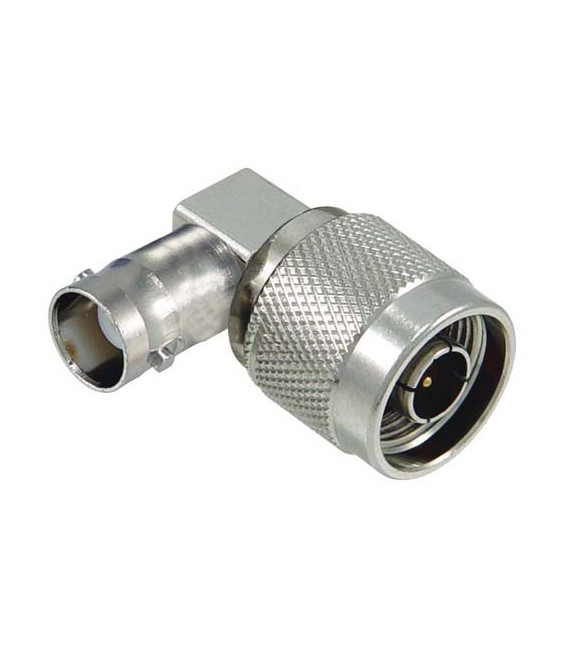 Coaxial Adapter, BNC Female / N-Male Right Angle