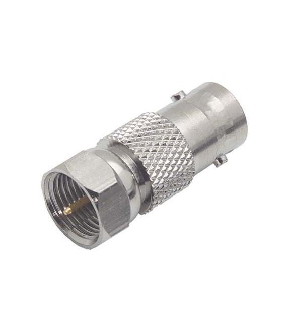 Coaxial Adapter, BNC Female 50 Ohm / F Male