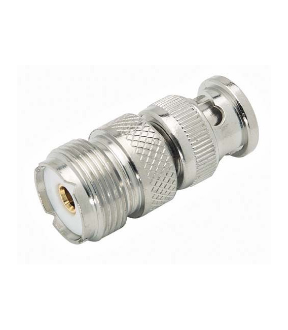 Coaxial Adapter, BNC Male / UHF Female