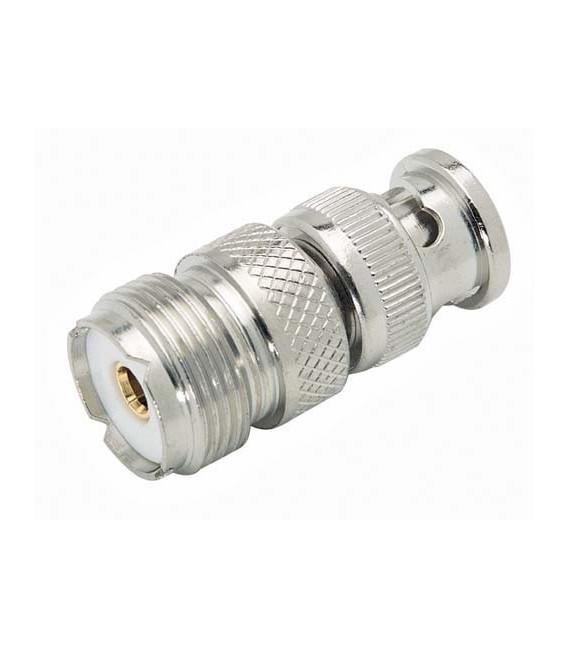 Coaxial Adapter, BNC Male / UHF Female
