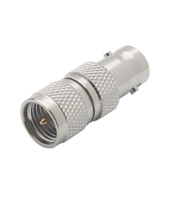 Coaxial Adapter, BNC Female / Mini-UHF Male