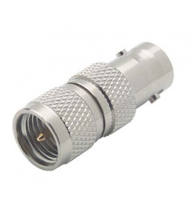 Coaxial Adapter, BNC Female / Mini-UHF Male
