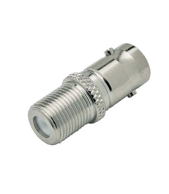 Coaxial Adapter, BNC Female 50 Ohm / F Female