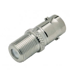 Coaxial Adapter, BNC Female 50 Ohm / F Female