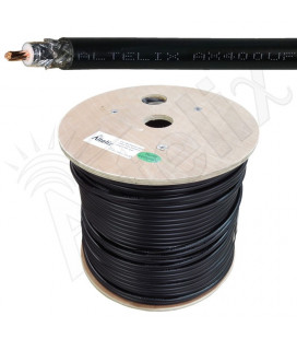 Cable coaxial 50 ohms baja perdida CA-400, bobina 304 metros