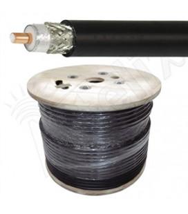 Cable coaxial 50 ohms baja perdida CA-600, bobina 304 mtrs