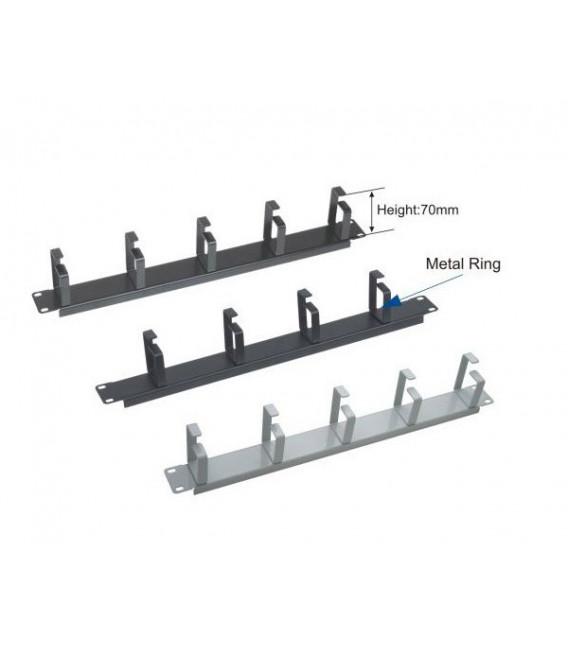 Panel pasahilos - 5 anillas metálico 7cms metálico Negro