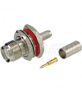 RP-TNC Bulkhead Jack for RG58, 195-Series Cable