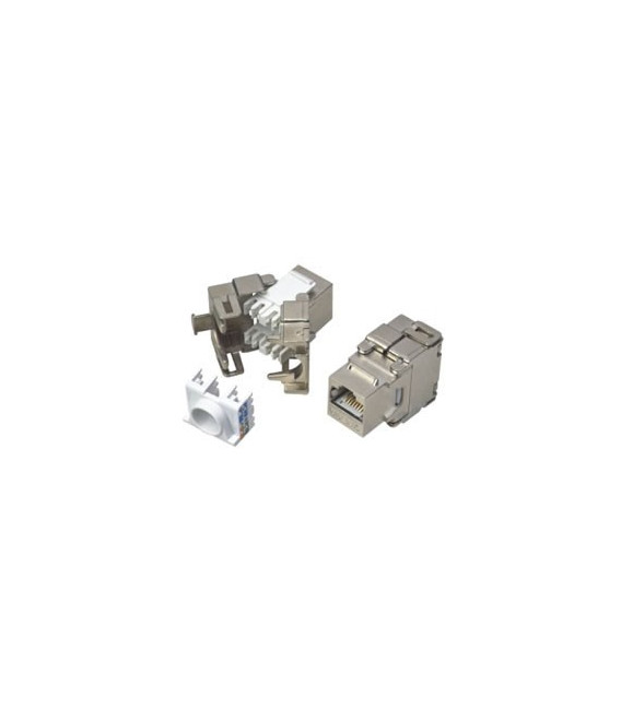 Conector RJ45 Hembra Cat.6A FTP tipo 3M Keystone.