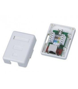 Roseta Cat.5e FTP con 1 conector RJ45 base superficie simple apantallado.