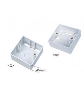 Caja de superficie plástica 80 x 80 x 45 mm