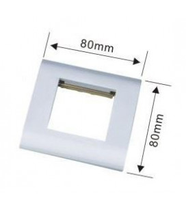 Tapa para caja metal 80 x 80 con hueco 45 x 45 mm