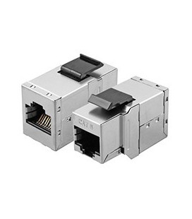 Adaptador RJ45 H-H Cat.6a FTP keystone
