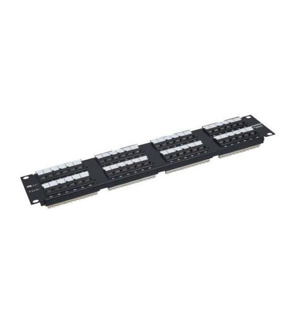 Patch panel 48 puertos para Cat.5E- UTP -110 IDC