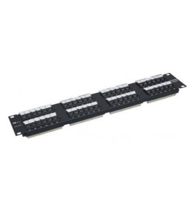 Patch panel 48 puertos para Cat.5E- UTP -110 IDC
