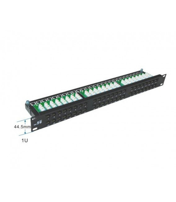 Patch panel 48 puertos para Cat.5E- UTP en 1U