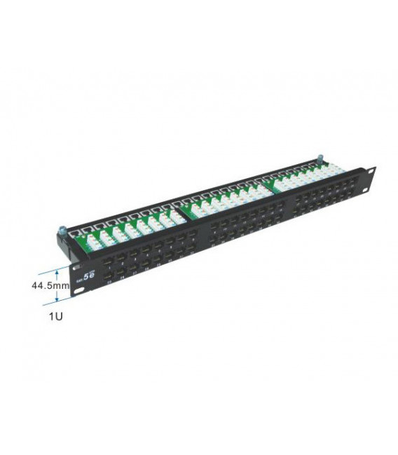 Patch panel 48 puertos para Cat.6- UTP en 1U