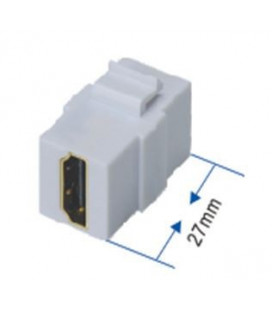 Adaptador HDMI- M/M. blanco