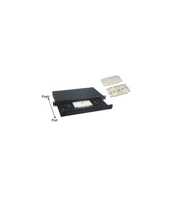 Panel Fibra óptica 24 SC.- Simple/LC. Extraible