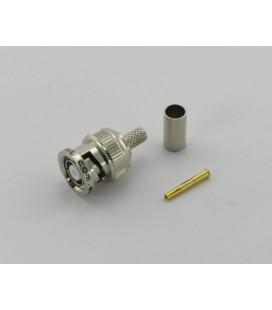 Conector RPBNC hembra (plug), crimpar, LMR195