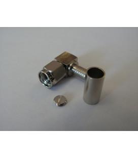 Conector RPSMA hembra (plug) 90º, crimpar LMR195
