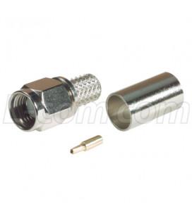 Conector RP SMA hembra (plug), crimpar, LMR240