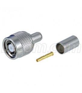 Conector RP TNC hembra (plug), crimpar, LMR240