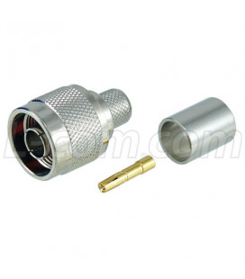 Conector RP-N hembra (plug), Crimpar, LMR400