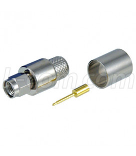 SMA Male Crimp for RG8, 400-Series Cable