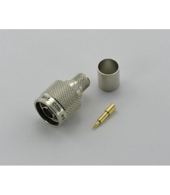 Conector N macho, Crimpar, WBC400 - ANT para usar en frecuencias de 0-3GHz