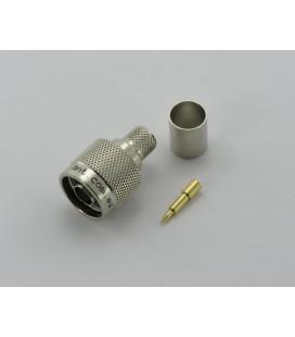 Conector N macho, Crimpar, LMR/CA-400 - hasta 6GHz
