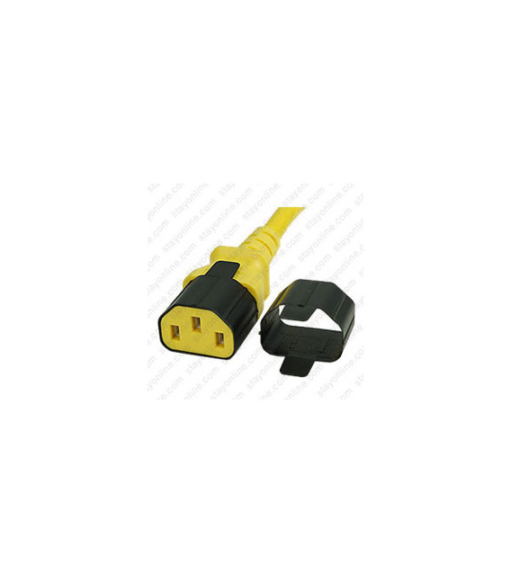 C13 Secure Insert Tab Contact Retention Insert for Yung Li or Stay Online IEC 60320 C13 Cord into a C14 Inlet - Black