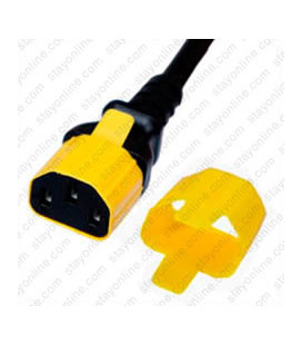 C13 Secure Insert Tab Contact Retention Insert for Yung Li or StayOnline C13 Cord - Yellow