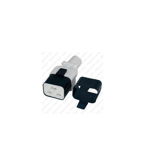 C19 Secure Insert Tab Contact Retention Insert for Yung Li or StayOnline C19 Cord - Black