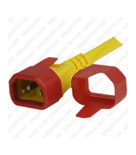C14 Secure Sleeve Tab Contact Retention Insert - Red with Extraction Tab