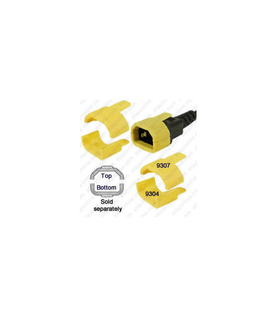 C14 Secure Sleeve Straight Contact Retention Insert - Yellow, Straight Installation