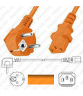 Euro CEE 7/7 Male to IEC60320 C13 Female 1.8 Meters 10 Amp 250 Volt H05VV-F3 0.75 Orange Power Cord
