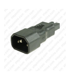 C14 Plug to C7 Connector Polarized Block Adapter - Black