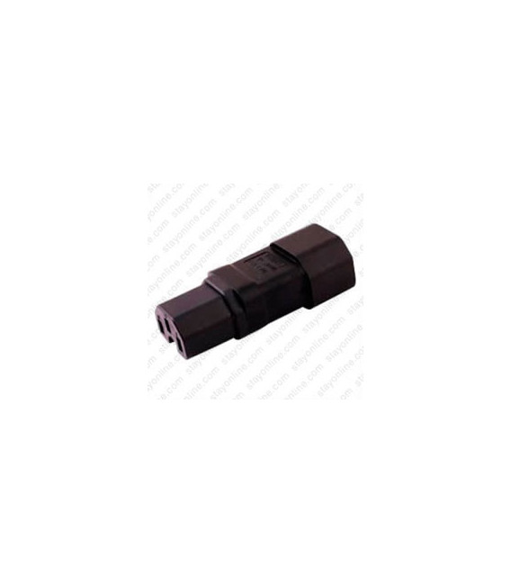 C14 Plug to C15 Connector Block Adapter - Black