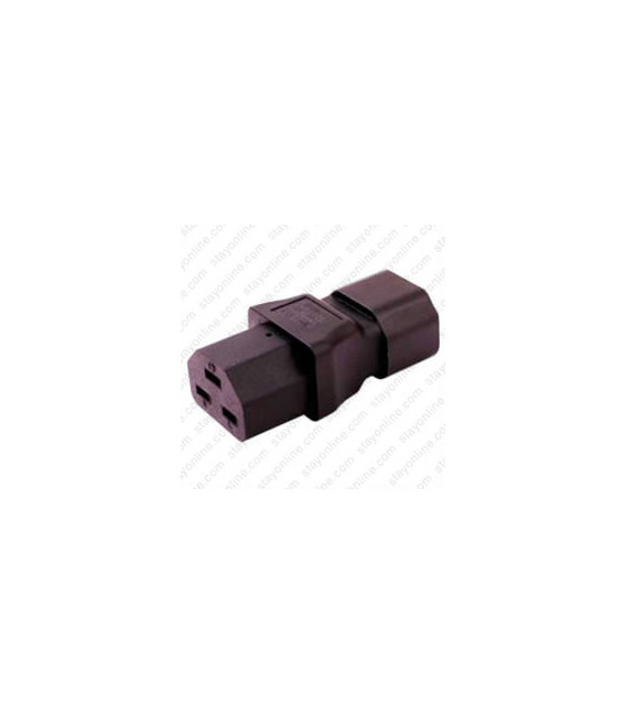C14 Plug to C21 Connector Block Adapter - Black