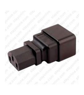 IEC 60320 C20 Plug to IEC 60320 C13 Connector Block Adapter - Black