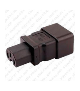 C20 Plug to C15 Connector Block Adapter - Black