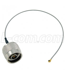 Pigtail mini PCI a N macho, 20 cms, 1.13 cable
