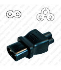 C8 Plug to C5 Connector Block Adapter - Black