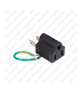 North America NEMA 1-15 Plug to NEMA 5-15 Connector Block Adapter - Black