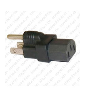 North America NEMA 5-15 Plug to C13 Connector Block Adapter - Black