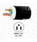 Hubbell HBL8215C NEMA 5-15 Hospital Grade Male Plug