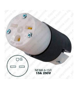 Hubbell HBL5669C NEMA 6-15 Female Connector