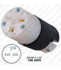 Hubbell HBL5669C NEMA 6-15 Female Connector