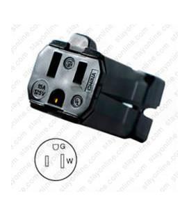 Hubbell HBL5969VBLK NEMA 5-15 Female Connector - Valise, Black